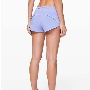 Lululemon Hydrangea Blue Speed Up Shorts